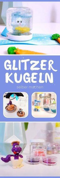 Upcycling Idee für Kinder: Schnneekugel / Glitzerkugel selber basteln