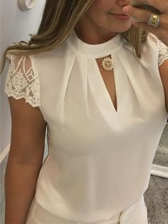 Ericdress Standard Short Sleeve Straight Summer T-Shirt online shopping mall, buying fashion dresses & rapid delivery. Start your amazing deals with big discounts! Jumpsuits For Women, Blouses For Women, T Shirts For Women, Evening Dresses Plus Size, Mode Outfits, Buy Dress, Casual Shirts For Men, Blouse Designs, Lace Shorts