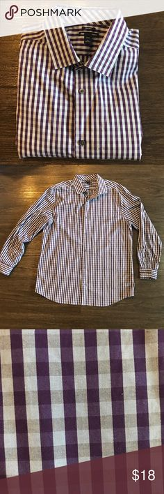 Gap | Purple Cross Pattern Like new condition! Purple/Blue Button Down shirt. GAP Shirts Casual Button Down Shirts