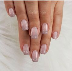 70 Wedding Natural Gel Nails Design Ideas for Bride 2019 Nails Art Nails Nail designs Cute Nails, Pretty Nails, My Nails, Kiss Nails, Hair And Nails, Natural Gel Nails, Natural Nail Art, Natural Nail Designs, Round Nails