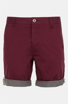 Topman 'Dempsey' Turn-Up Chino Shorts available at Nordstrom