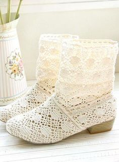 Handmade Hollow Knitted Flattie Ankle Boots for Women,  Shoes, knitted  shoes  hollow  boots, Casual