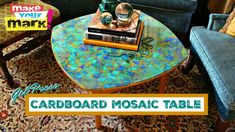 Watch Mark Montano make a MOSAIC TABLE with cardboard and Gel Press - Monoprinting Art Products! Learn how to make your own.
