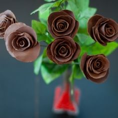 Do-it-yourself chocolate roses