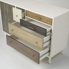 Patchwork Dresser | West Elm Drawers impossible to open