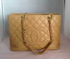Chanel Grand Shopping Tan Tote Bag $1,996