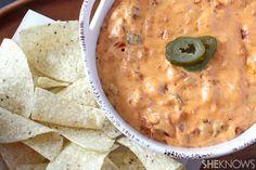 Easy chorizo queso dip http://www.sheknows.com/food-and-recipes/articles/992455/easy-chorizo-queso-dip-recipe