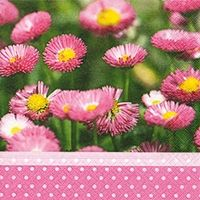1505 Servilleta decorada flores