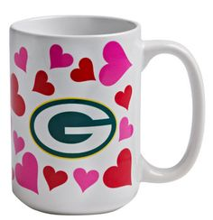 Green Bay Packers Valentines Mug at the Packers Pro Shop