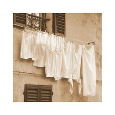 hanging clothes on the line