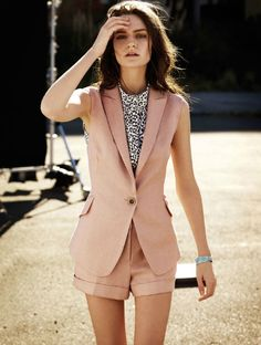 if shorts were aloud at my work I would have this outfit in every color this summer!!
