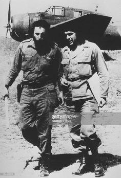 Portrait in the 1950's of Fidel CASTRO (at left) and Ernesto GUEVARA in the Bolivian bush.