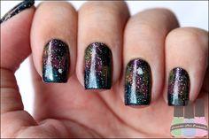 Loucas Por Esmalte » Galaxy Nails