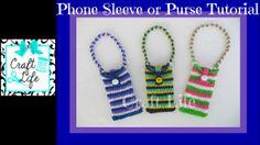 Craft Life Phone Sleeve or Purse Tutorial on One Rainbow Loom