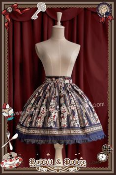 Infanta Rabbit Poker Prints Lolita Skirt