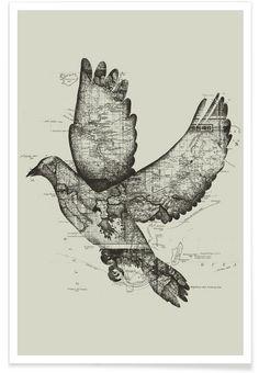 Wanderlust als Premium Poster von Tobe Fonseca   JUNIQE