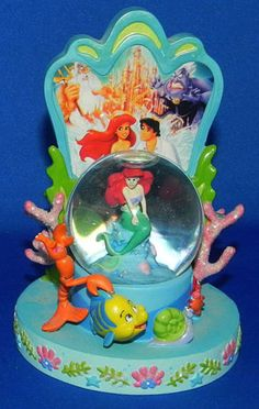 Little-Mermaid-Ariel-Movie-Poster-Mini-Water-Globe-Snowglobe-Disney-Theme-Park