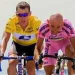 """The Gift"". Lance and Marco Pantani at Mount Ventoux (sad about Marco's passing away, years later"