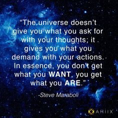 Are your actions helping to create your ideal life? #MorningMotivation #ariix #quoteoftheday #SteveMaraboli #07172013