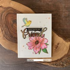 by - Cards and Paper Crafts at Splitcoaststampers Always Here For You, Pretty Pink Posh, Friendship Cards, Forest Friends, Penny Black, Simon Says Stamp, Pretty Cards, Copic Markers, Card Kit