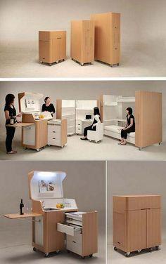 Space Saving Furniture. It's called Kenchikukagu! ♥