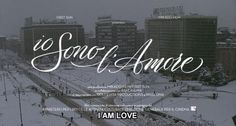 """I Am Love"" title sequence by Marco Cendron, calligraphy by Luca Barcellona"