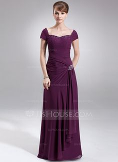 Mother of the Bride Dresses - $142.99 - A-Line/Princess Sweetheart Floor-Length Chiffon Mother of the Bride Dress With Ruffle Beading (008006065) http://jjshouse.com/A-Line-Princess-Sweetheart-Floor-Length-Chiffon-Mother-Of-The-Bride-Dress-With-Ruffle-Beading-008006065-g6065