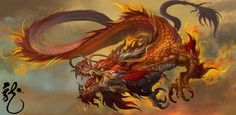Chinese Dragon by Dongjun Lu | Creatures from Dreams