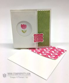 Stampin up stampinup stamp it pretty order catalog circle punch card idea
