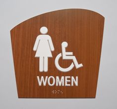 Erie Custom Signs, Contemporay Wood look acrylic Braille ADA restroom sign Ada Restroom, Restroom Signs, Wooden Signage, Ada Signs, Door Signs, Contemporary, Fabric, Graphics, Tejido