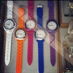 Coach Spring watches!!!! I want one:)