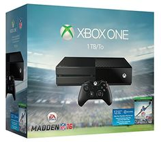 This console bundle features a  full-game downloads for Madden NFL 16 and Madden Ultimate Team Gold Upgrade Pack. Play and store more games than ever, including your Xbox 360 games, with the 1TB hard drive. Experience the unique intensity, precision and comfort of the Xbox One Wireless Controller.