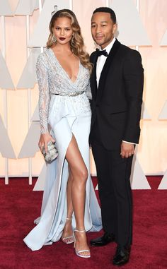 Chrissy Teigen and John Legend Look Absolutely Perfect at the 2015 Oscars—See More Stunning Couples!  Chrissy Teigen, John Legend, 2015 Academy Awards, Couples