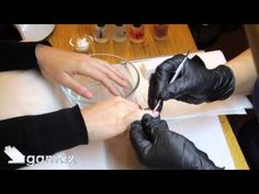 Soak off gel polish removal with manicure: Gamax's method - YouTube