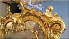 barokk falitükör Lion Sculpture, Statue, Places, Design, Art, Antique Furniture, Art Background, Kunst, Lugares