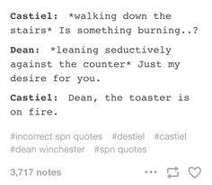 incorrect supernatural quotes (tumblr)