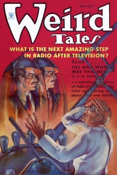 Weird Talesvol 25 no 4, April 1935. Cover by M. Brundage.