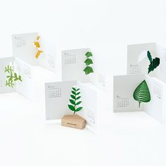 Xmas gift idea: Botanical 2015 calendar. Comes with a wooden stand to display each pop up calendar. http://shop.thelittledromstore.com/product/botanical-calendar-2015