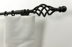 16mm wrought iron curtain rods with Cage finials