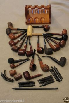 Nice Vintage Lot of Tobacco Pipes and Accessories
