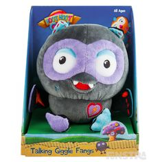 Shop for the Talking Giggle Fangs and more toys, games and gifts featuring Hoot, Hootabelle, Hootly, Giggle Fangs and all your favourite characters at Funstra. Plush, Games, Toys, Fun, Activity Toys, Clearance Toys, Gaming, Sweatshirts, Plays
