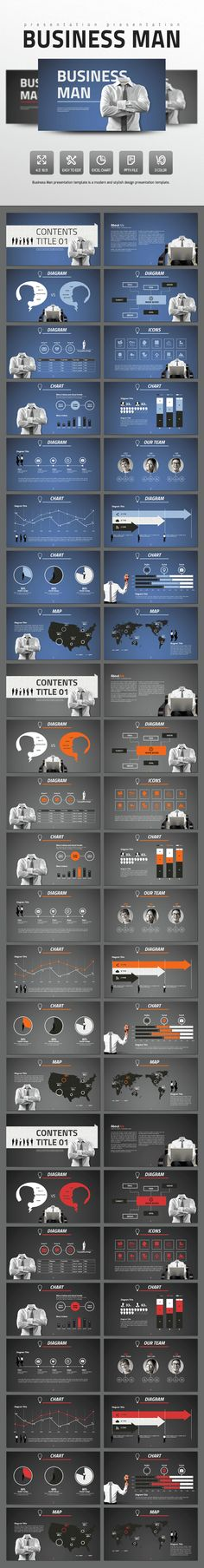 Business Man - PowerPoint Template #slides Download here: http://graphicriver.net/item/business-man/14627140?ref=ksioks