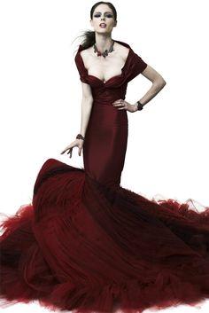 """Exclusively Glamorous! Starlit Carpet Gown for Lana Beniko Zac Posen, Resort 2012 """