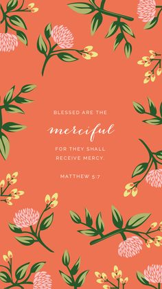 Isn't it funny how slow we are to give mercy and how quick we are to expect it from others? A new (free!) Weekly Truth background and a study on Matthew 5:7 // Elle & Company