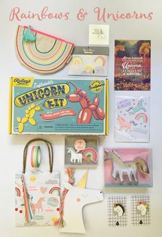 Geschenkideen für Einhorn-Fans, Einhörner & Regenbogen Rainbow Unicorn, Stickers, Sculpture, Paper Mill, Rain Bow, Gifts, Decorations, Nice Asses, Sticker