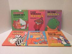 Six Sweet Pickles Book Lot Camel Zebra Stork Walrus Iguana Goose Richard Hefter