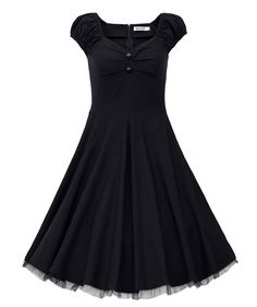 This dress is so pretty! I love that it is modest yet still in style! 1950s Style Vintage Swing Party Dress