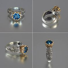 The ENCHANTED PRINCESS engagement ring in silver and by WingedLion, $785.00