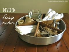 Thats My Letter: L is for Lazy Susan (tabletop), diy divided lazy susan