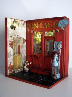"""Handgefertigte Miniatur Szene 01:12 skalieren """"Vintage Couture"""""""